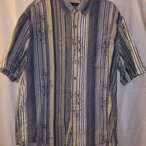 Tori Richard XL Hawaiian Shirt Cotton Silk Blend